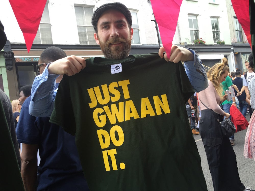 Image of JUST GWAAN DO IT Carnival '16 Special - UNISEX FOREST GREEN + YELLOW