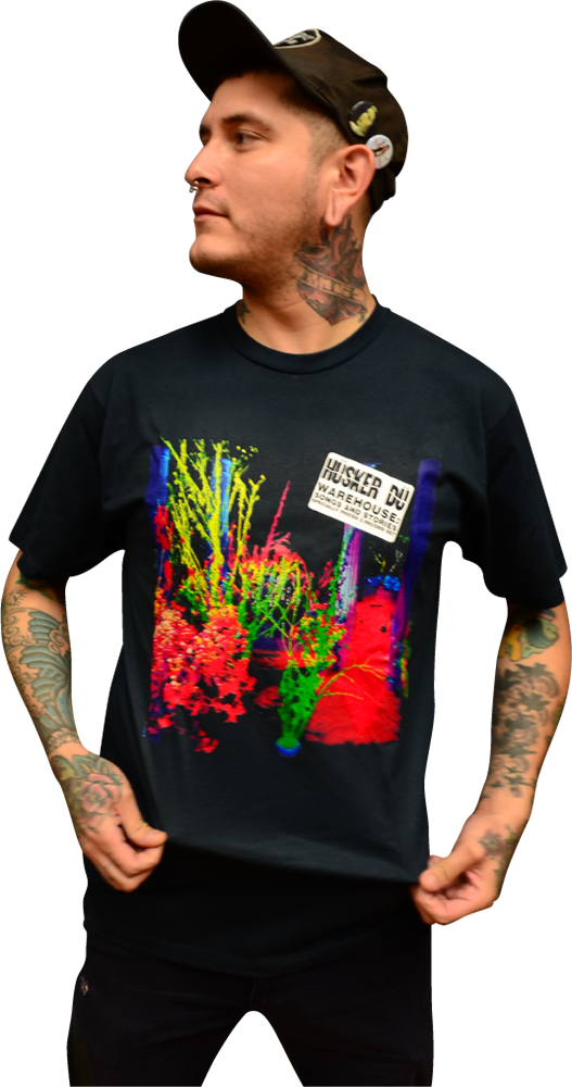 Image of HÜSKER DÜ: WAREHOUSE: SONGS AND STORIES ALBUM COVER T-SHIRT