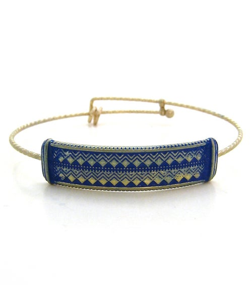 Image of Aztec Plate Expandable Bangle