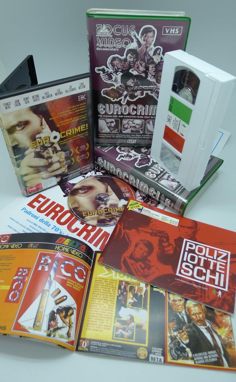 Image of EUROCRIME! DVD + VHS bundle