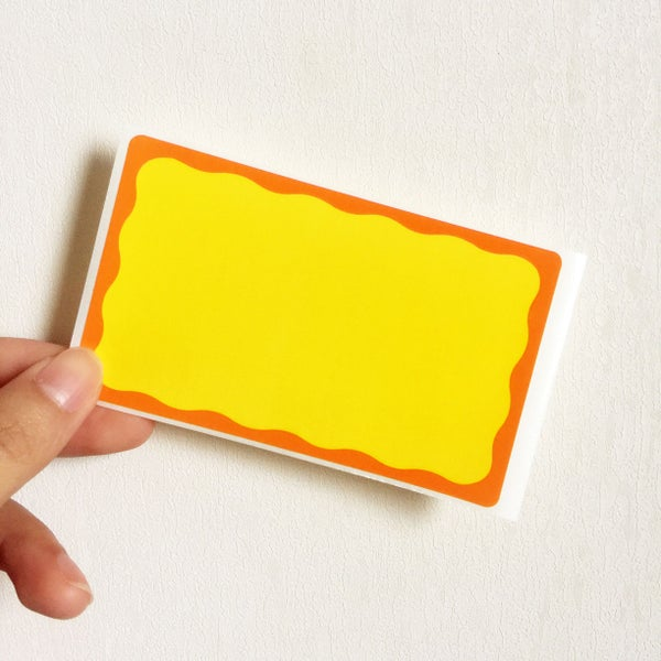 Image of Pumpkin Blank Eggshell Sticker
