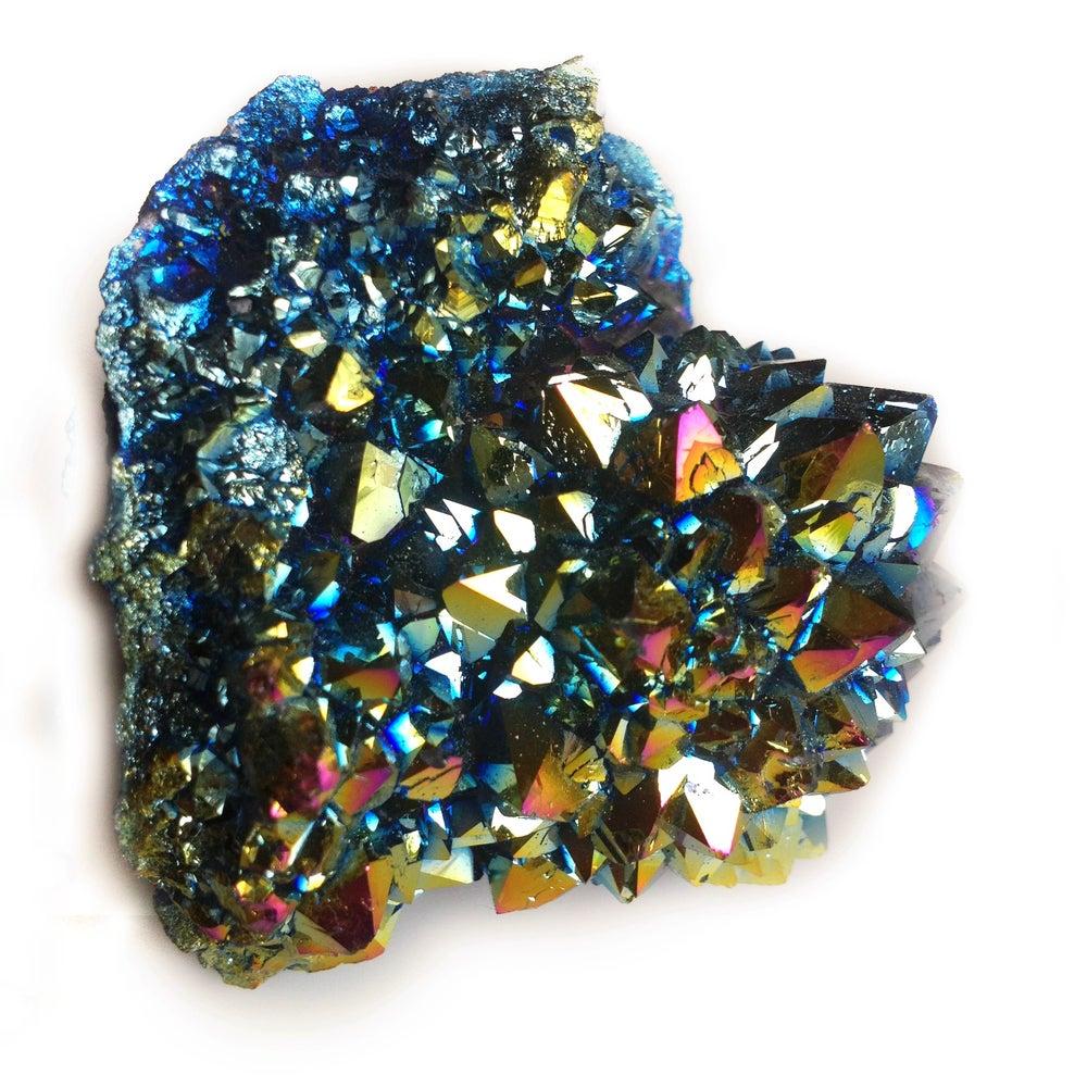 Image of Rainbow Aura Quartz Cluster