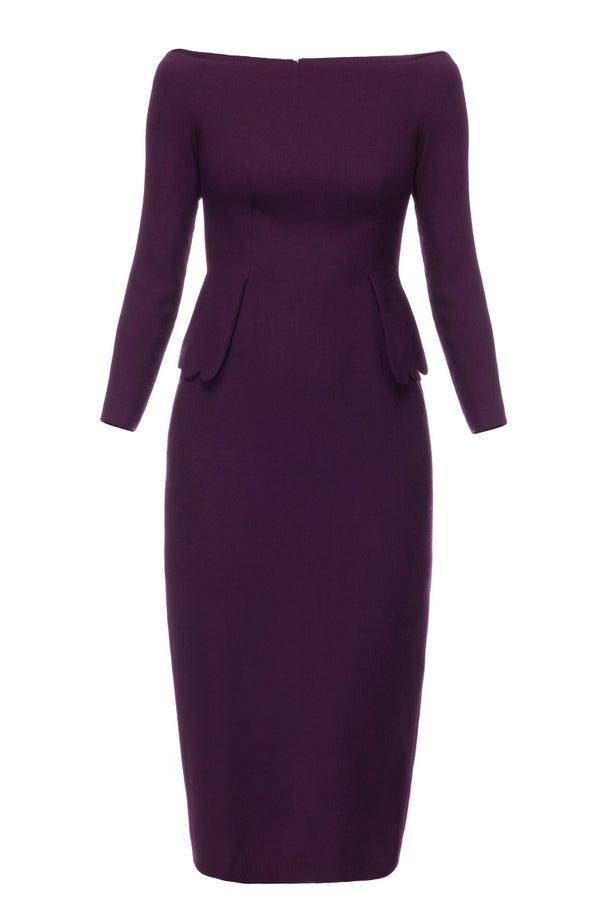 Bell Heather Dress (Plum) - Melissa Bui