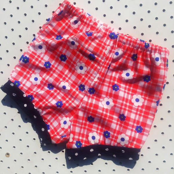 Image of Baggy bloomers - 6-12mths - daisy check