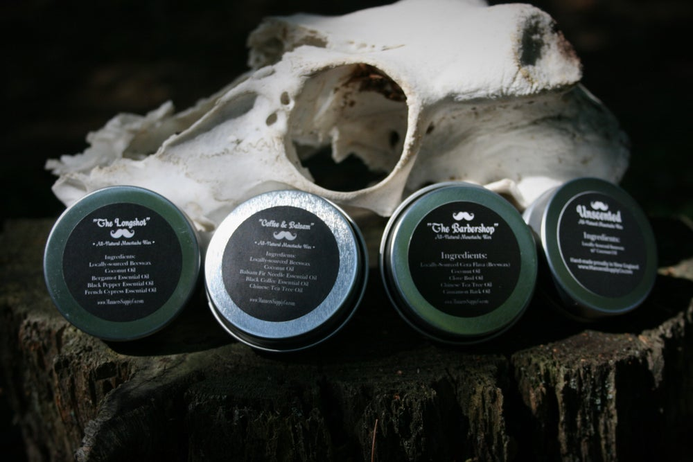 Image of MOUSTACHE WAX - All Natural 1oz. Tin (choose your scent)