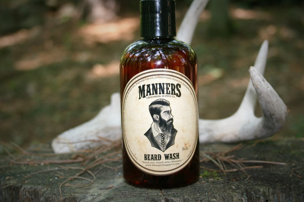 Image of BEARD WASH - 8oz. Amber Plastic Bottle (all-natural)