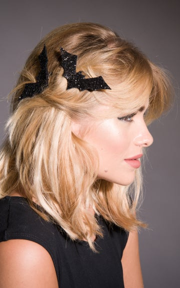 Image of Glitter Bat Hair Clip Available in 30 Colours