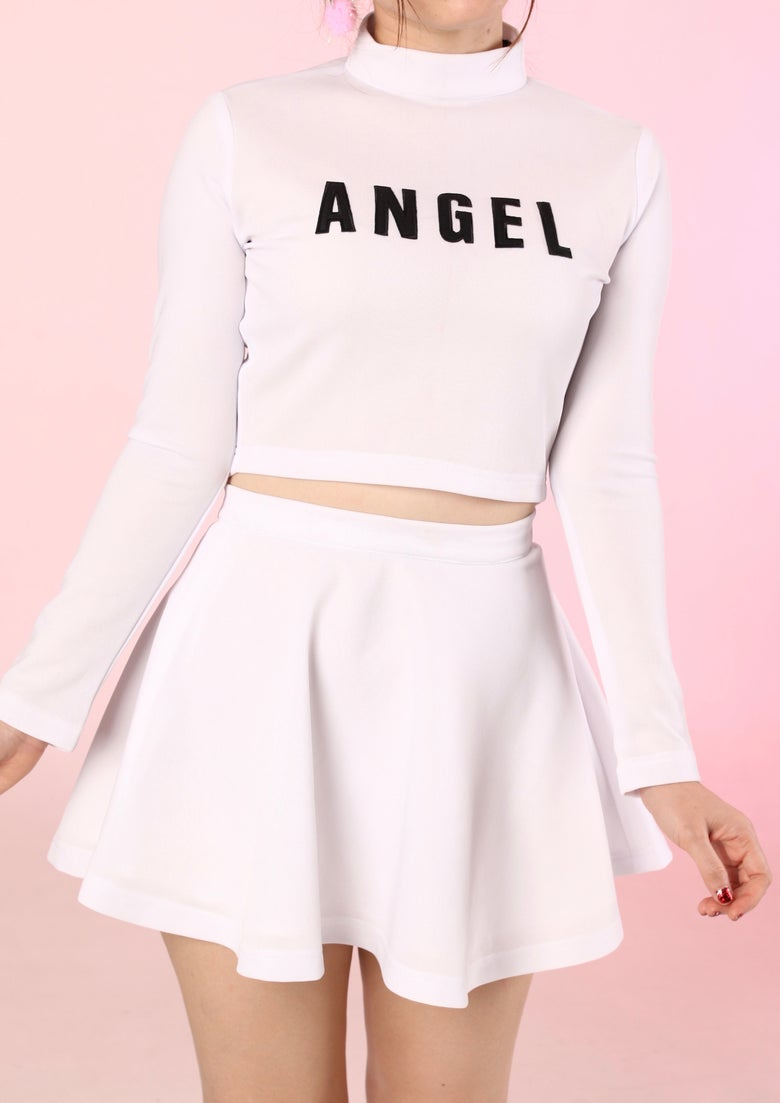 Image of Team Angel Cheerleading Set in White <3
