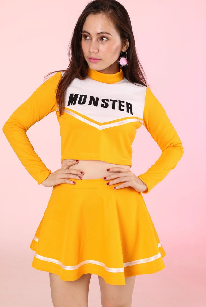 Image of Team Monster Cheer Set in Yellow Mustard