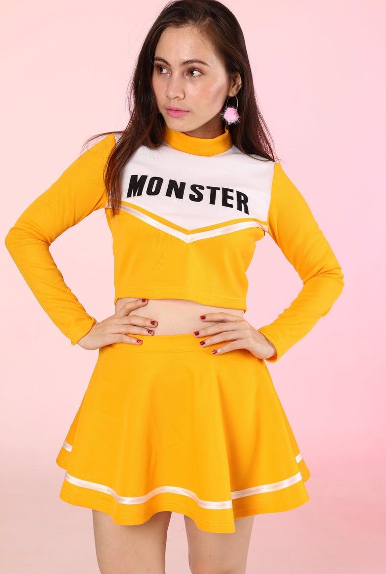 Image of Team Monster Cheer Set in Yellow Mustard