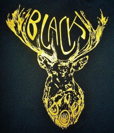 Image of BLACK DOE T-SHIRT - BLACK & GOLD