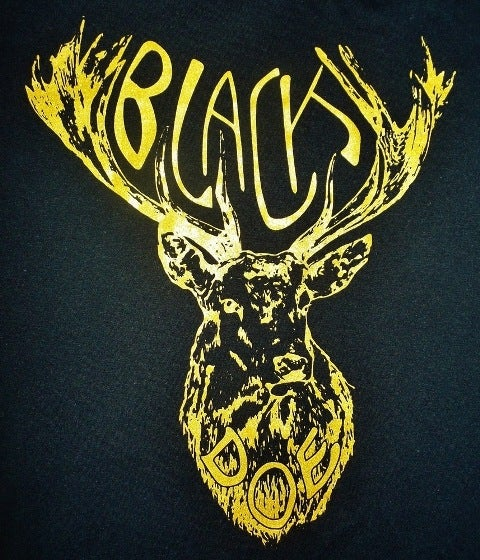 Image of BLACK DOE T-SHIRT - BLACK & GOLD