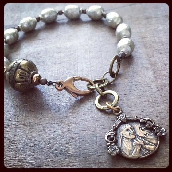 Image of St. Teresa of Calcutta Chaplet Bracelet