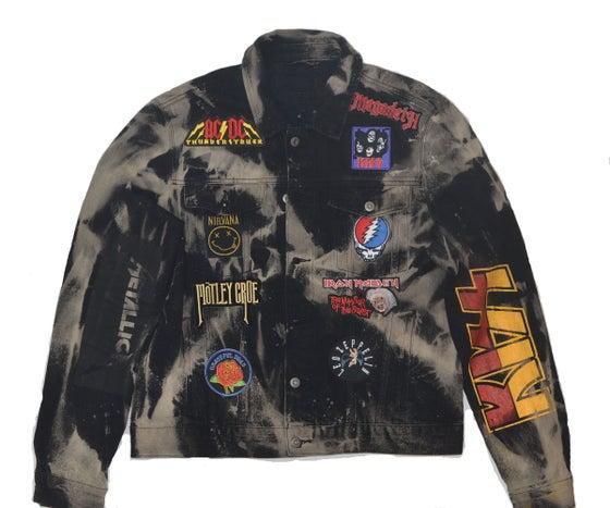 Image of Rock Hard Vintage Stone Wash Denim Jacket