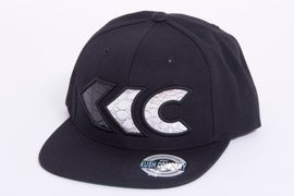 Image of Black/Silver Croc Appliqué Snap Back 2