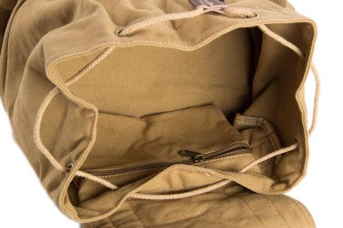Image of Waxed Canvas Camera Backpack, Professional DSLR Camera Bag, Travel Backpack FB-1235