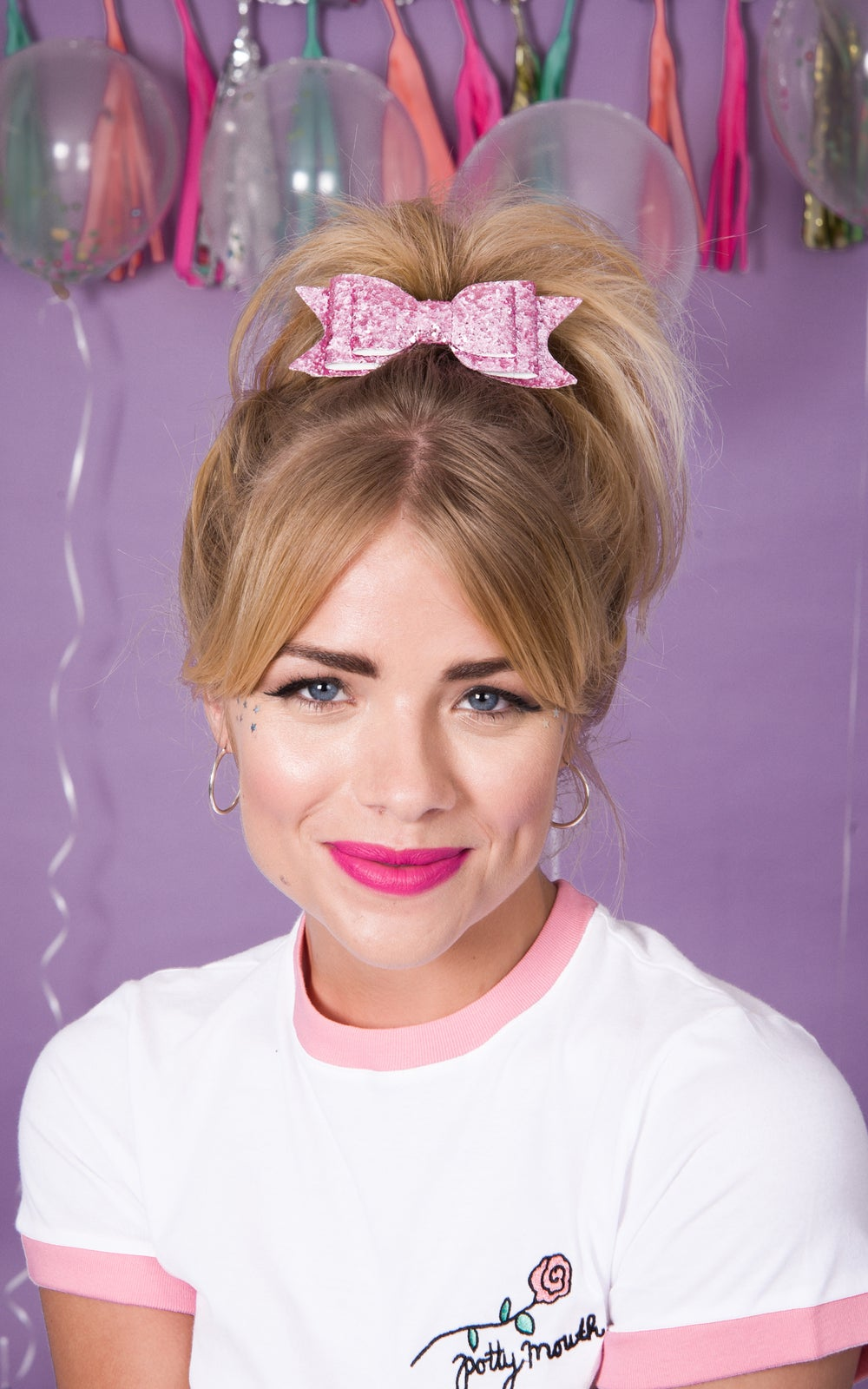 Image of Mary Lou Knotted Bow Pink