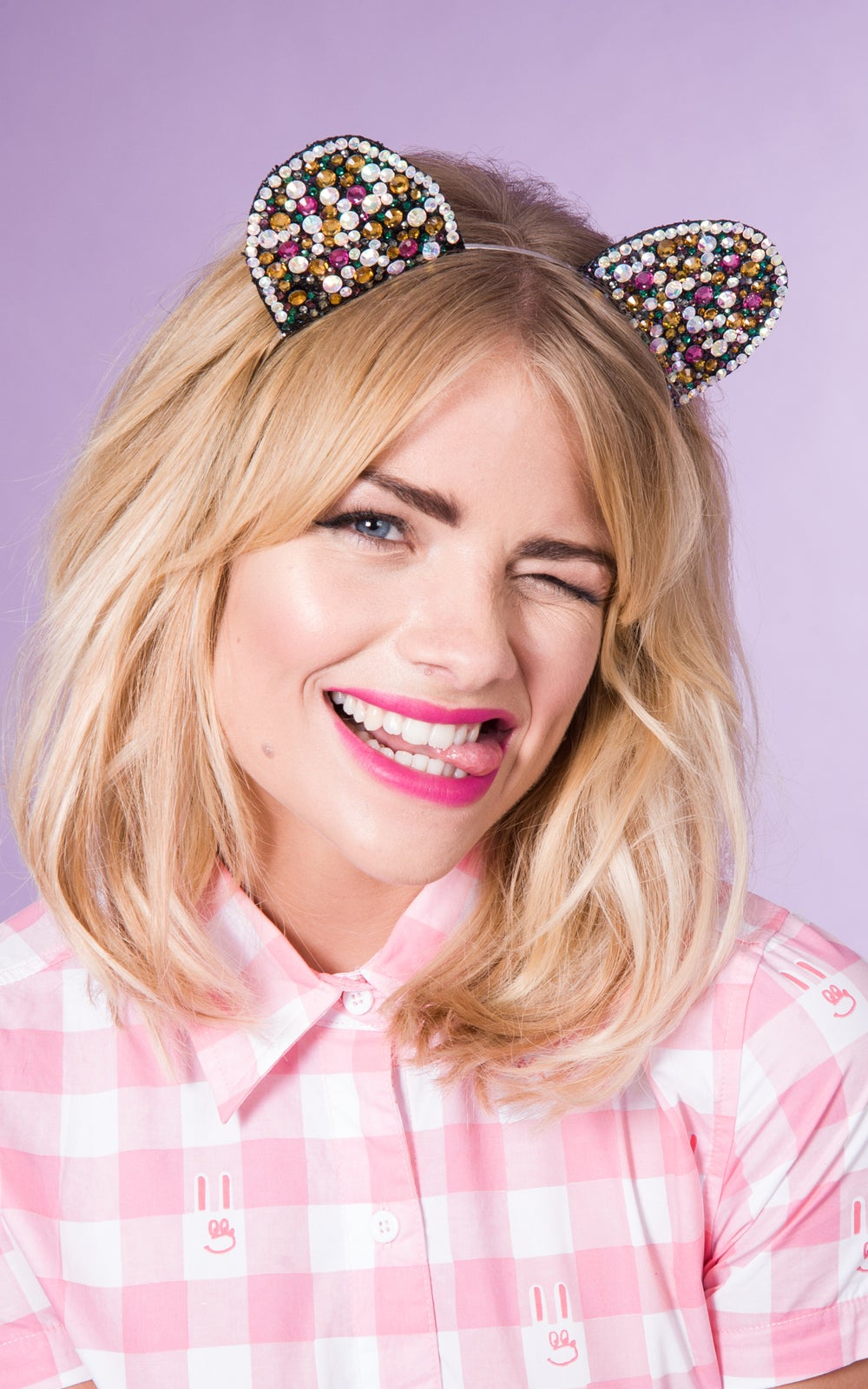Image of Cyndi Kitten Ears Pastel and Multicoloured