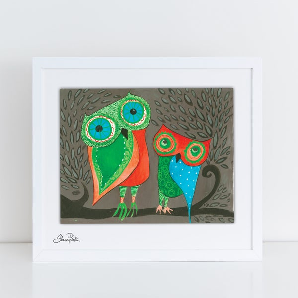Image of Owl Twins PRINT
