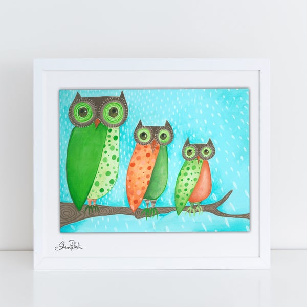 Image of Trio Of Owls PRINT