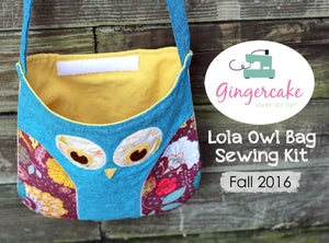 Image of NEW!  Fall 2016 Lola Owl Bag Sewing Kit and Pattern Limited Edition