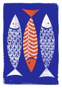 Image of 3 Fish Silkscreen Print - New!