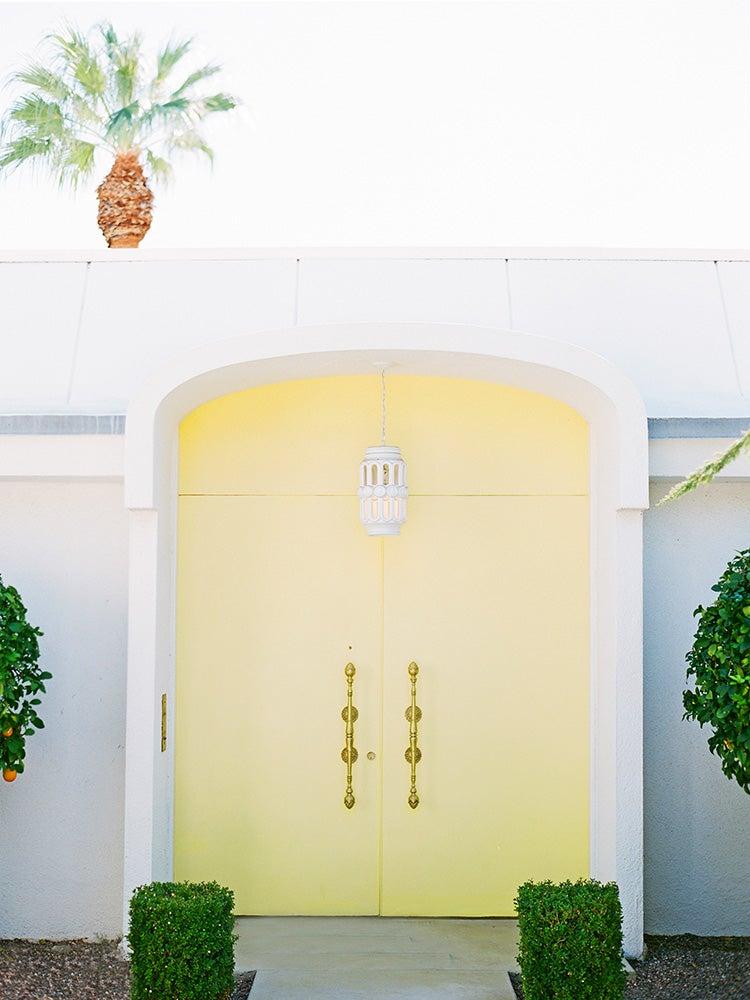 Image of palm springs yellow door