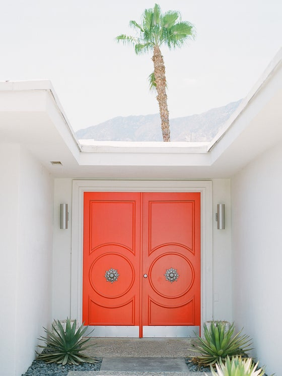 Image of palm springs orange doors