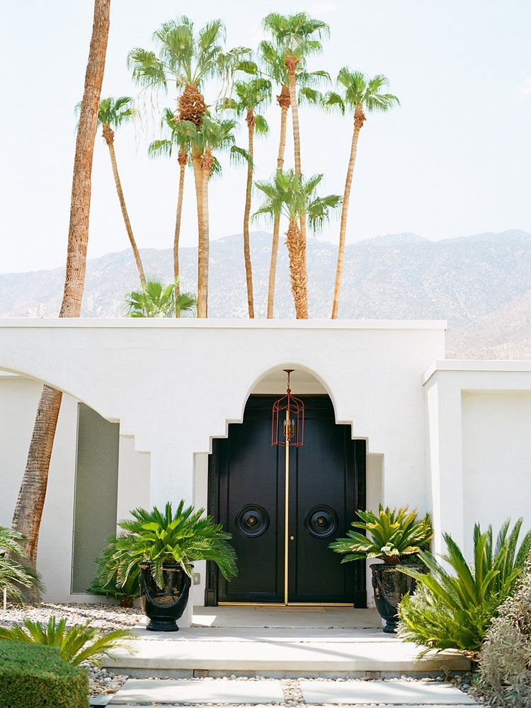 Image of palm springs black door