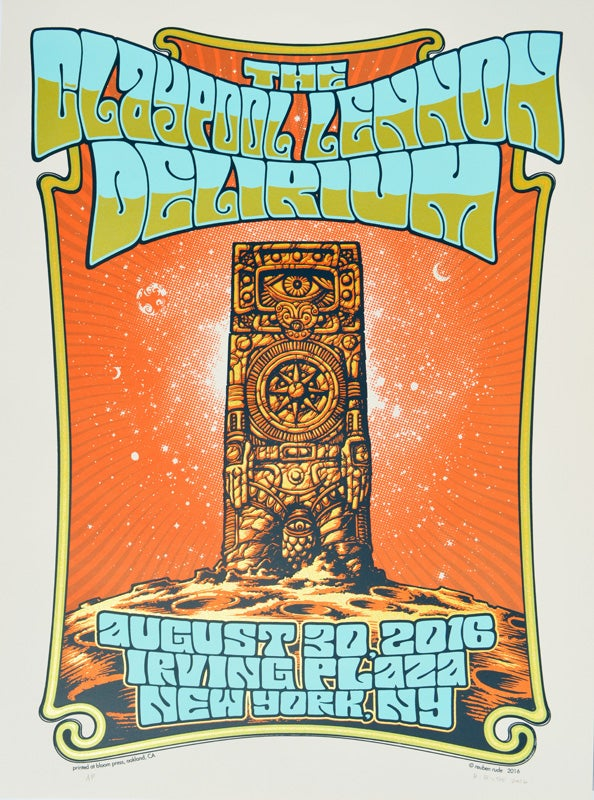 Image of THE CLAYPOOL LENNON DELIRIUM POSTER -NEW YORK, NY 2016
