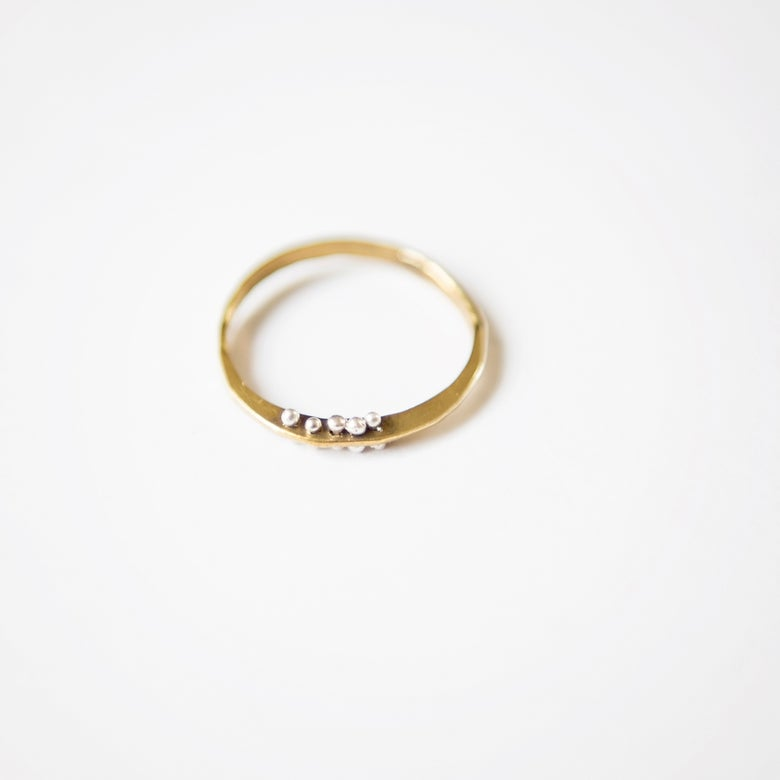 Image of Petite bit gold filled ring