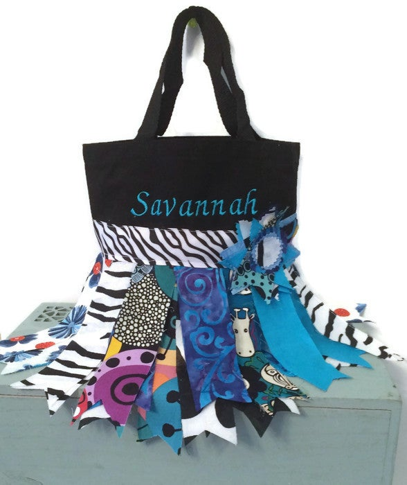 Image of Blue Rag skirt tote bag