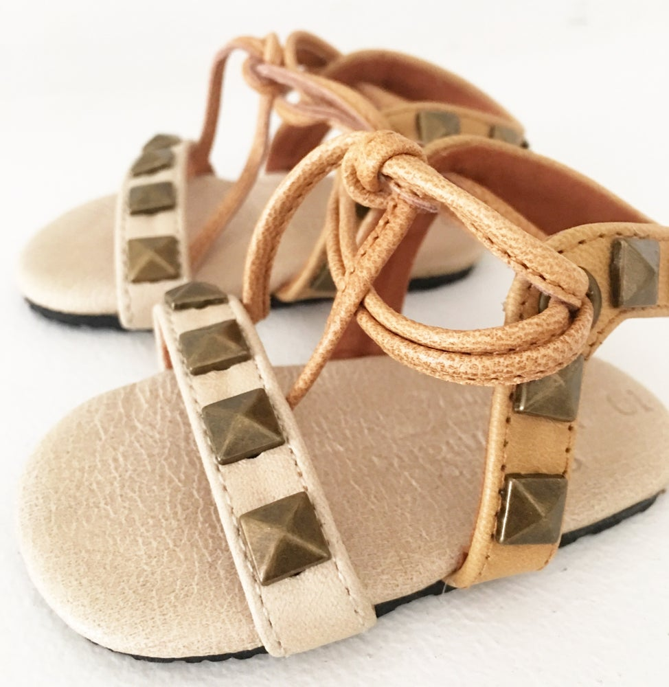 Image of Indiah Leather studded sandal - Cream