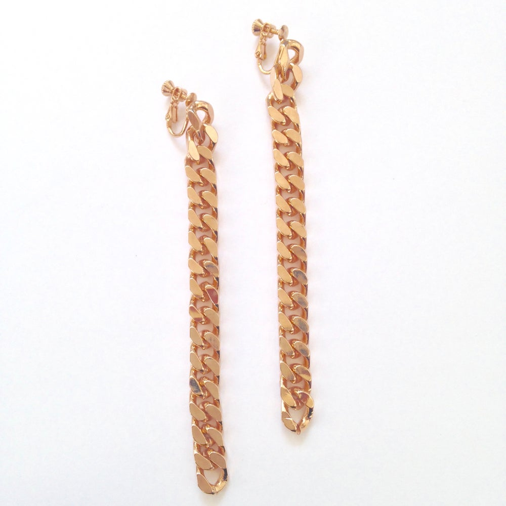 Image of Longue Boucle d'Oreilles Sweet Chain / Long  Earrings Sweet Chain