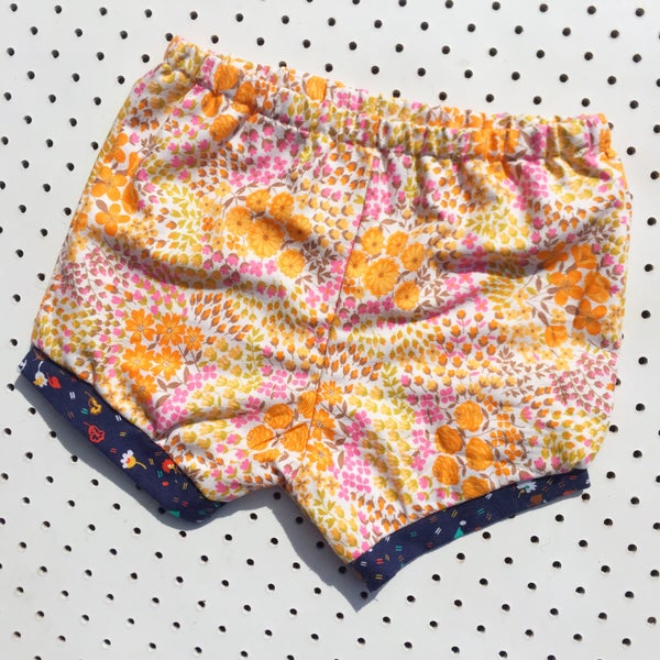 Image of Baggy bloomers - size 1-2yrs - floral flannel