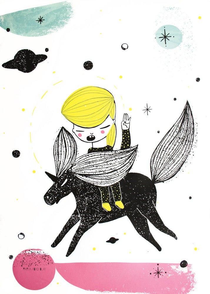 Image of Juliste, Unicorn Girl