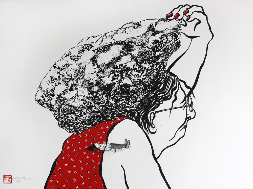 """Image of Sérigrpahie / Screen print """"Héritage"""" Sold out. A new serie is coming !"""