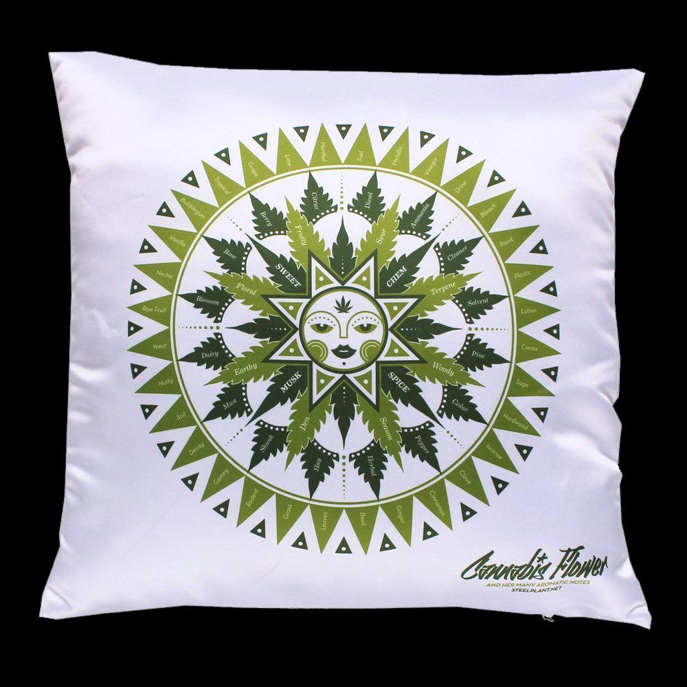 Image of Cannabis flavor chart pillowcase
