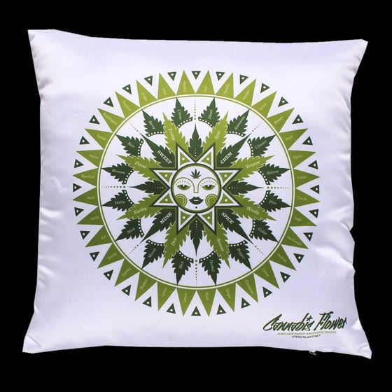 Image of Cannabis flavor chart pillowcase