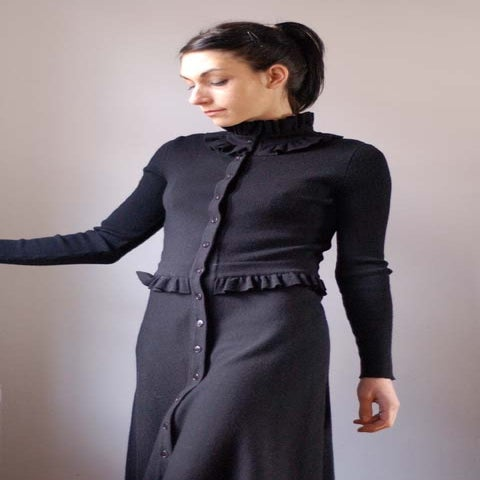 Image of Christian Dior Vintage Black Knit Dress