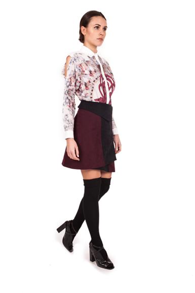 Image of Smocking Skirt| Ribes Black