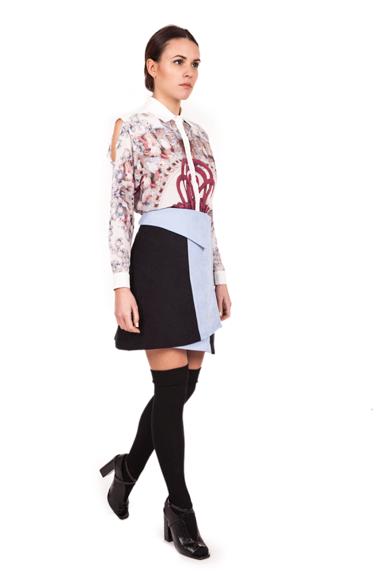 Image of Smocking Skirt| Black Dust