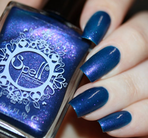 Image of ~Summer Nights Like Magic~ deep royal blue-violet duochrome Spell nail polish!
