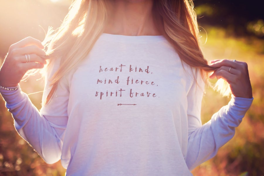 Image of heart kind long sleeve tee
