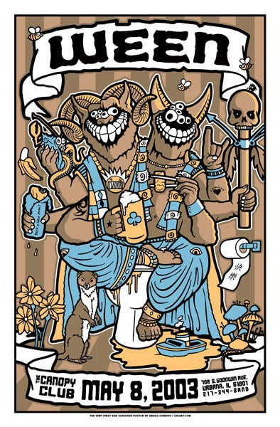 Image of Ween Canopy Club 2003 Poster