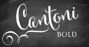 Image of Cantoni Bold Hand Lettered Font