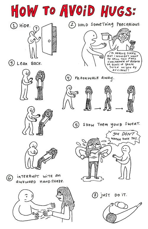 Image of Greeting Card (How to Avoid Hugs)