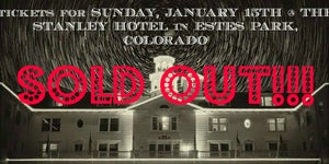 Image of SUNDAY, JANUARY 15TH - The Stanley Hotel, Estes Park, CO