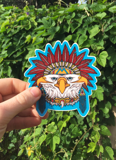 "Image of ""EAGLE"" sticker"