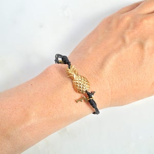 Image of Pineapple friendship bracelet with initial